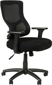 Alera Elusion II Series Mesh Mid-Back Synchro with Seat Slide Chair, Black