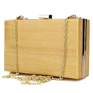 chaussures de sport 16bda 3615e ibella Wooden Box, Pochette pour femme bois: Amazon.fr ...