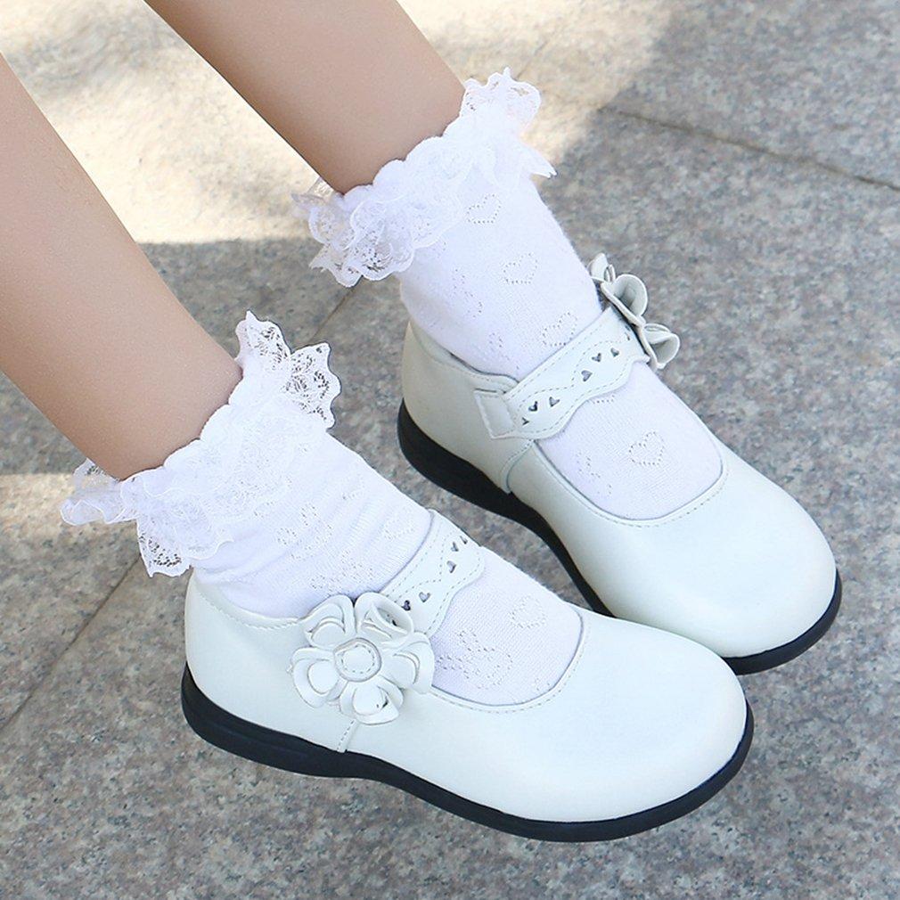 CYBLING Kids Girls School Uniform Mary Jane Ballet Flat Dress Oxford Shoe Toddler//Little Kid