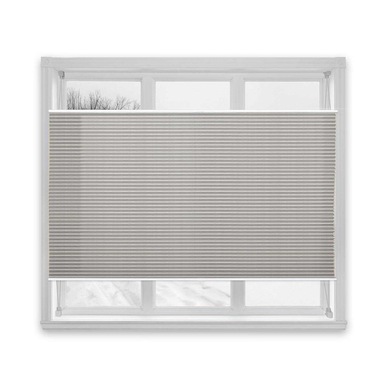 casa pura® Semi-Translucent Pleated Blind, Plissee Magic - Dark Grey, 65 x 200 cm | 8 Sizes Available
