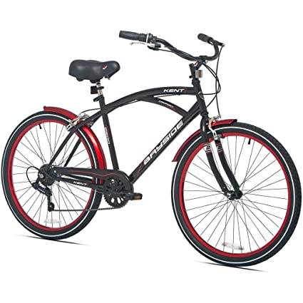 Amazon.com : 26 Inch Kent Bicycles 7 Speed Aluminum Frame Cruiser ...