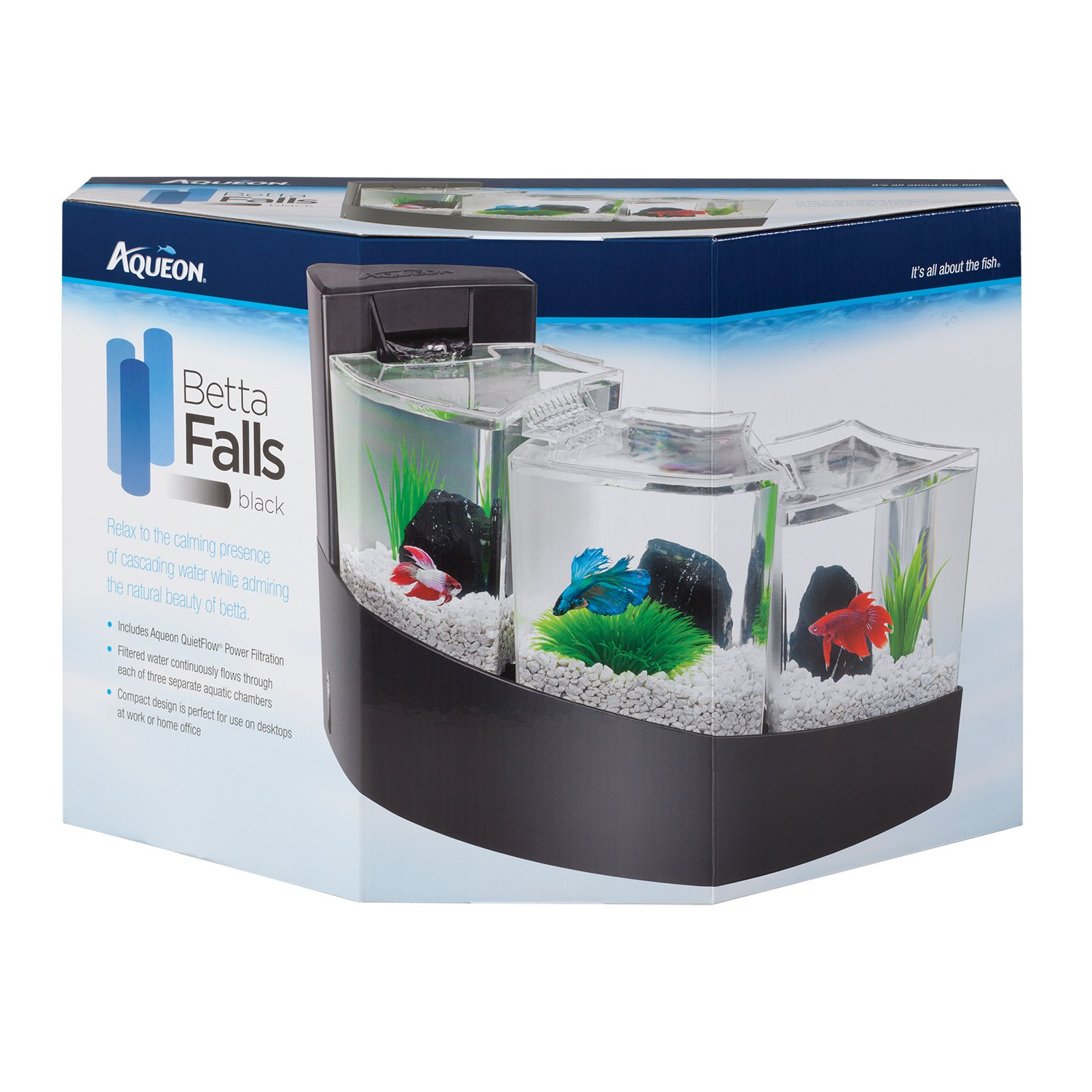 Amazon Aqueon Betta Falls Kit Black Pet Supplies