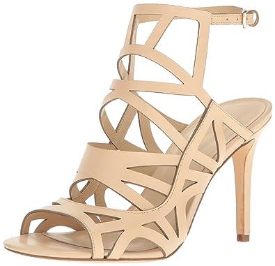 Nine West Women's Nasira Leather Dress Sandal, Light Natural, ...