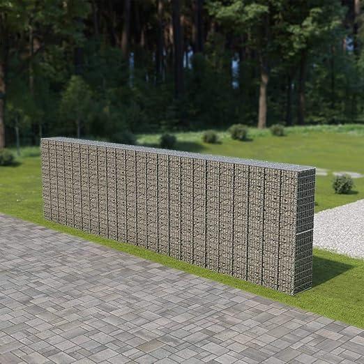 Muro de gaviones con Cubiertas Acero galvanizado 900x50x200 cmCasa ...