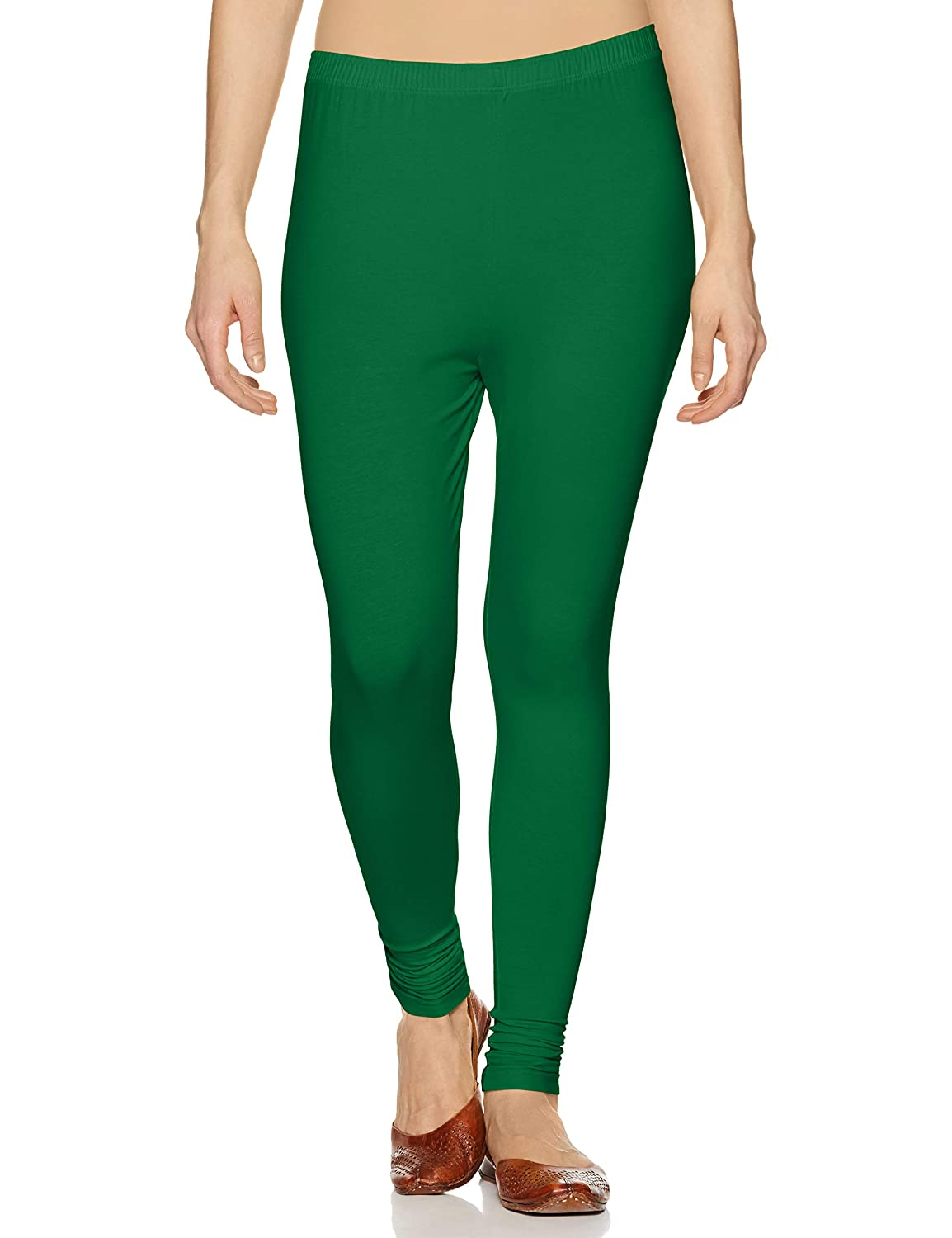 Lux Lyra Women's Leggings Ankle_92_FS_1PC_Forest Green_Free Size