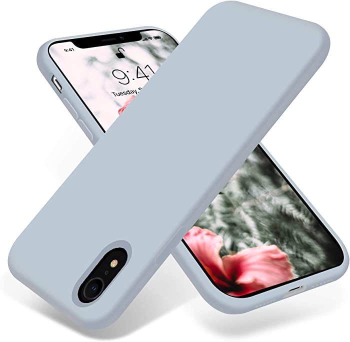 OTOFLY for iPhone XR Case, [Silky and Soft Touch Series] Premium Soft Silicone Rubber Full-Body Protective Bumper Case Compatible with Apple iPhone XR 6.1 inch - (Baby Blue)