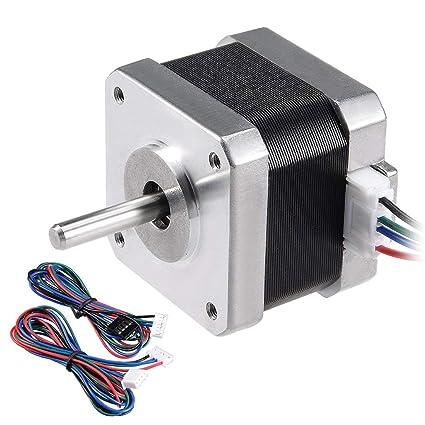 ALCOMPRA Motor paso a paso Nema 17 bipolar 24 mm 0.3N.m 0.4A ...