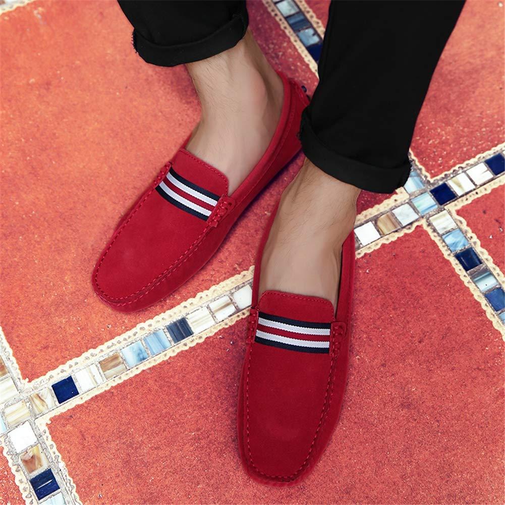 GPF-fei Men Lederschuh, ' S Lederschuh, Men Fall Spring Komfort-Wanderschuh Fashion Loafers & Slip-One Soft Flat schuhe Leichtbauschuh Leichtbau Schuhe,rot,43 155471