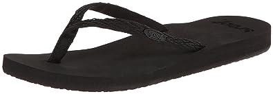 Reef Women's Ginger Drift Flip Flop,Black/Black,5 ...