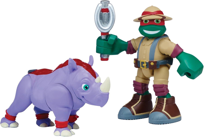 Teenage Mutant Ninja Turtles Pre-Cool Half Shell Heroes Safari Raphael with Rhino Figures