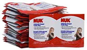 NUK Individually Wrapped Pacifier Wipes, 48 Count