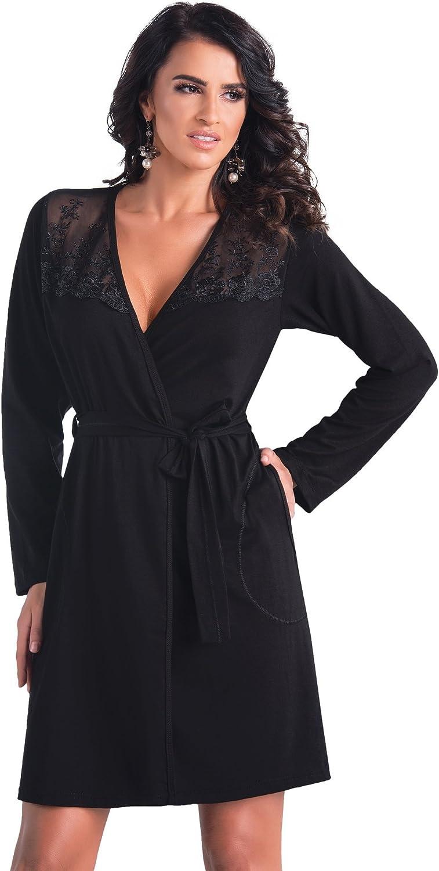 Donna Elegante n/églig/é//Camicia da notte con prezioso ricamo sotto il seno in unesclusiva confezione regalo