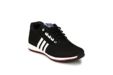 098658251a16 Believe Men s Black Synthetic Net Sports Casual Shoes -10
