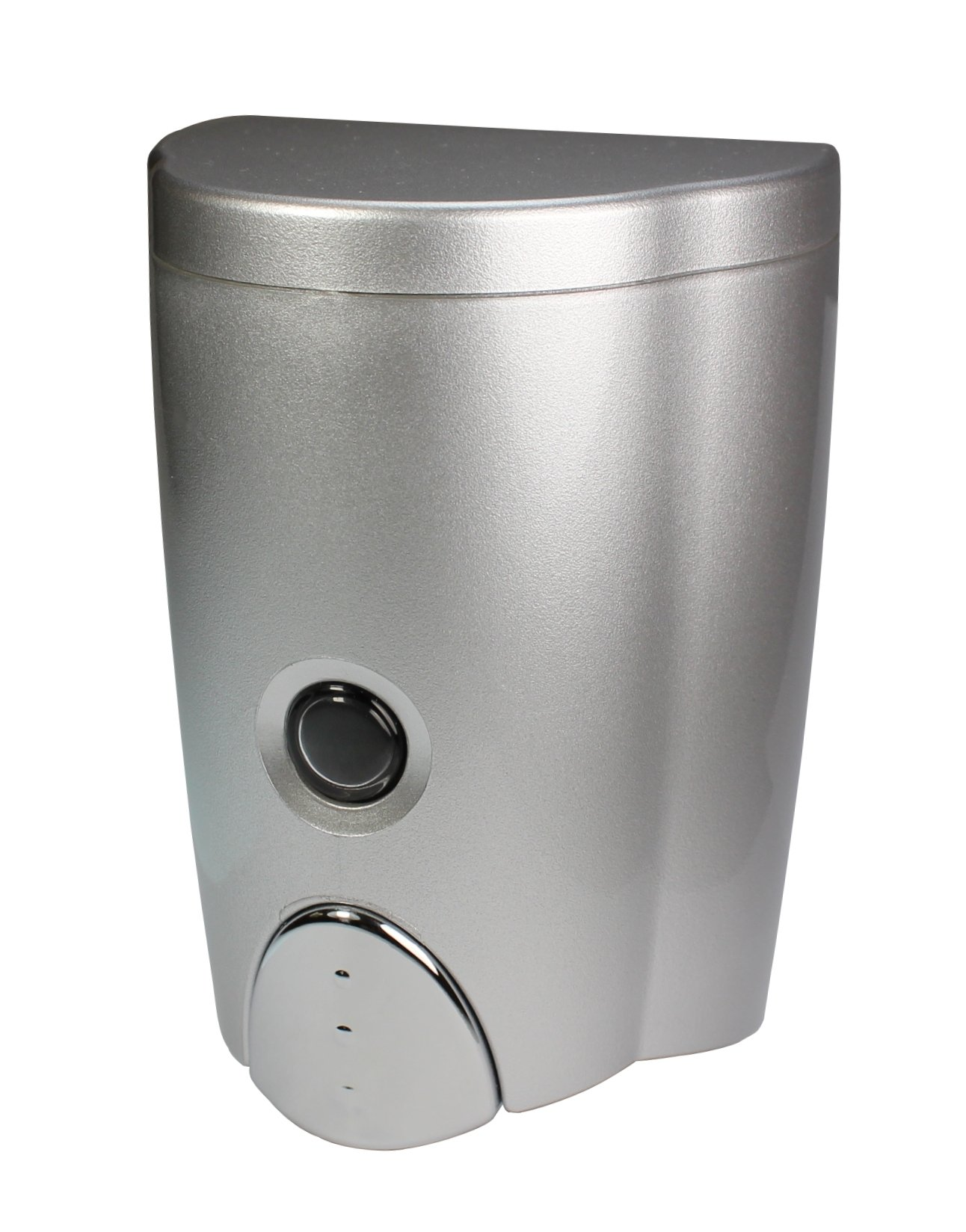 HOMEPLUZ Simply Silver Wall-Mount Soap Dispenser (19.6 oz / 580 ml) by HOMEPLUZ