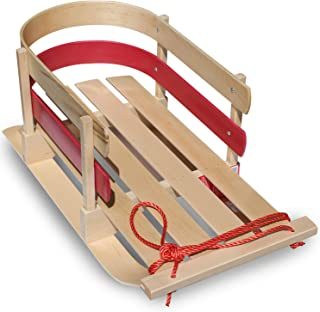 product image for Flexible Flyer Baby Pull Sled. Wood Toddler to-Boggan. Wooden Sleigh for Kids