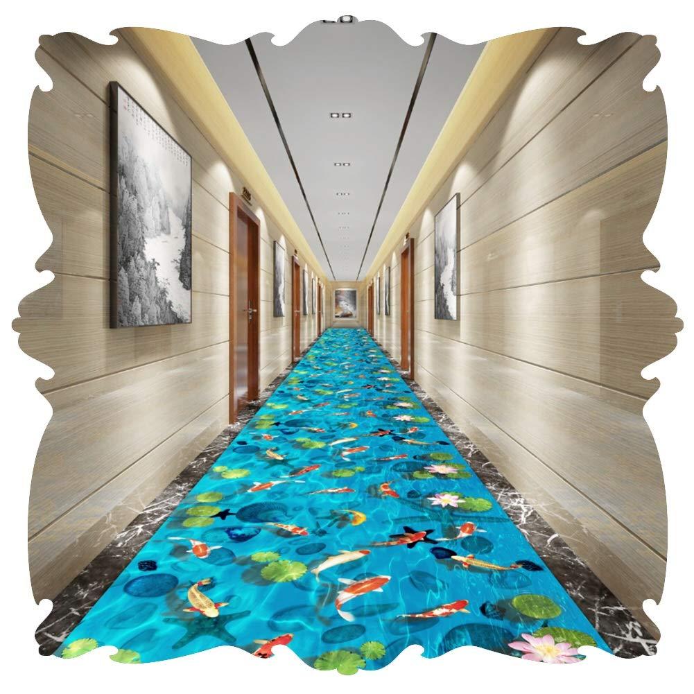 LIXIONG 廊下敷きカーペット 3D 狭い 入り口 敷物通路 エリア カーペット ベッドサイド マット にとって 階段 6 Mm カスタムサイズ (Color : A, Size : 1x7.5m) B07SN423GM A 1x7.5m