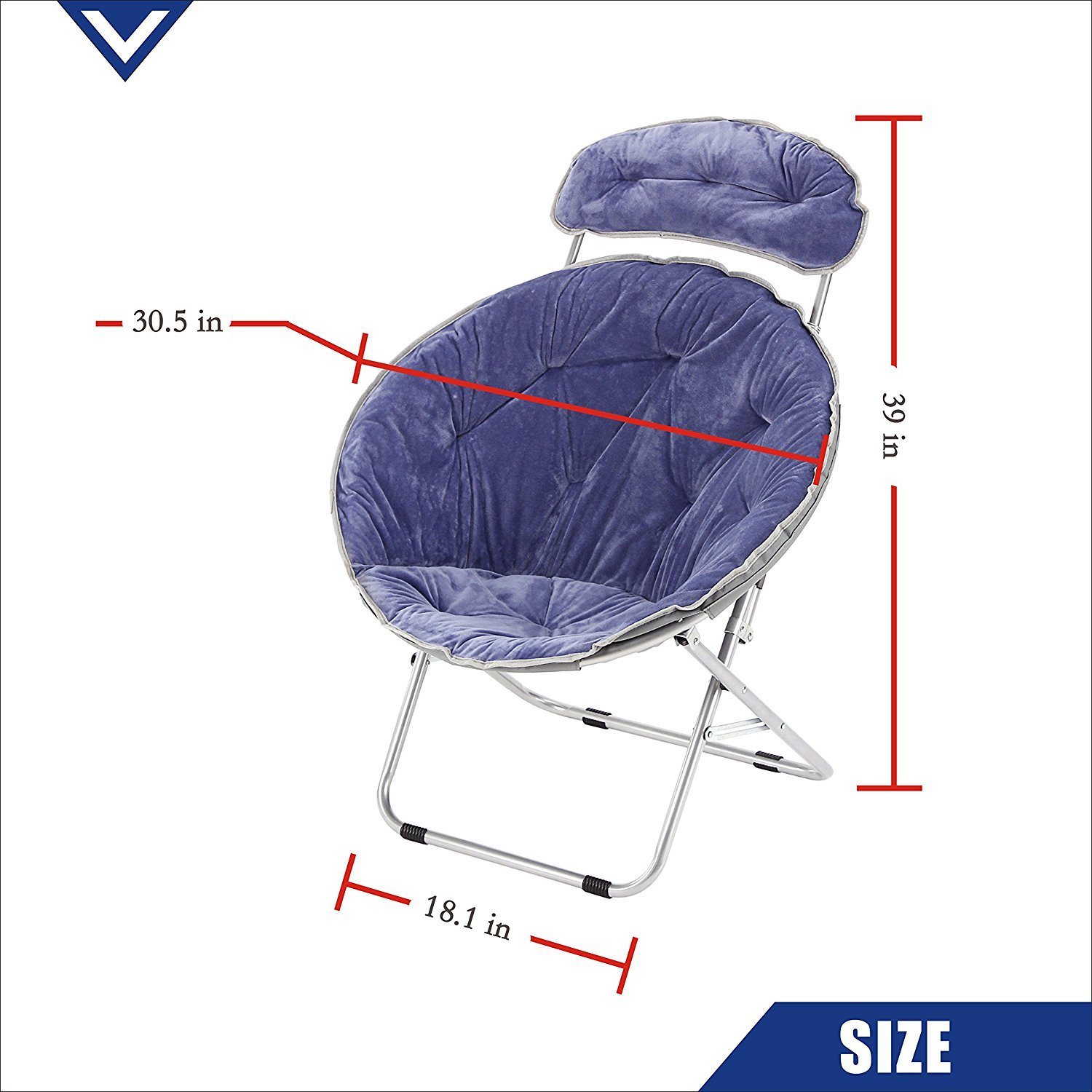 Terrific Campland Deluxe Padded Folding Moon Saucer Chair With Forskolin Free Trial Chair Design Images Forskolin Free Trialorg