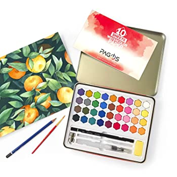 PAGOS 36 Colors Watercolor Paint