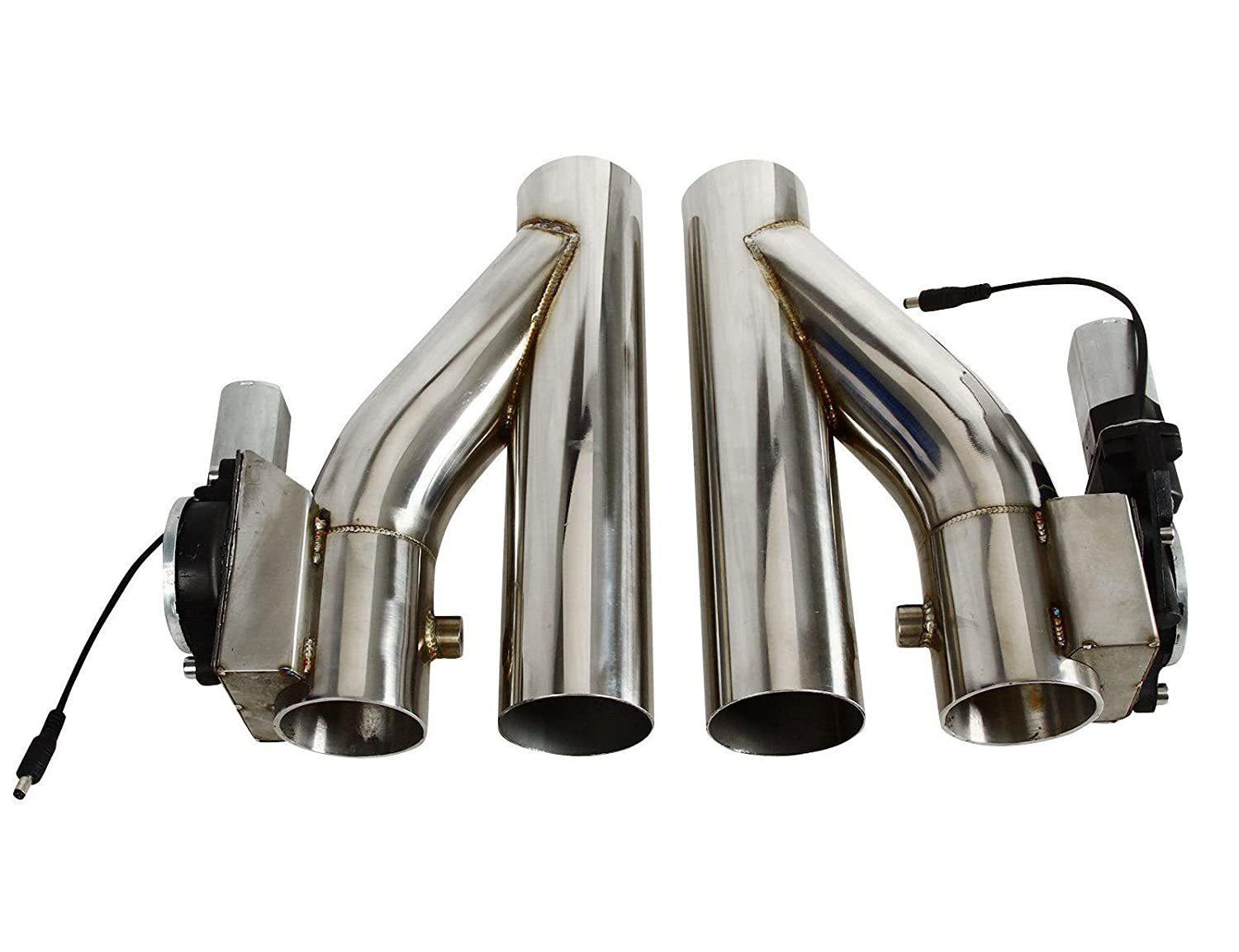 SUPERFASTRACING 2pcs 3 76mm Electric Exhaust Downpipe E-Cut Out Valve /& One Controller Remote Kit