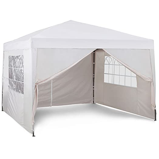 VonHaus Pop Up Gazebo 3x3m Set Outdoor Garden Marquee With Water Resistant Cover