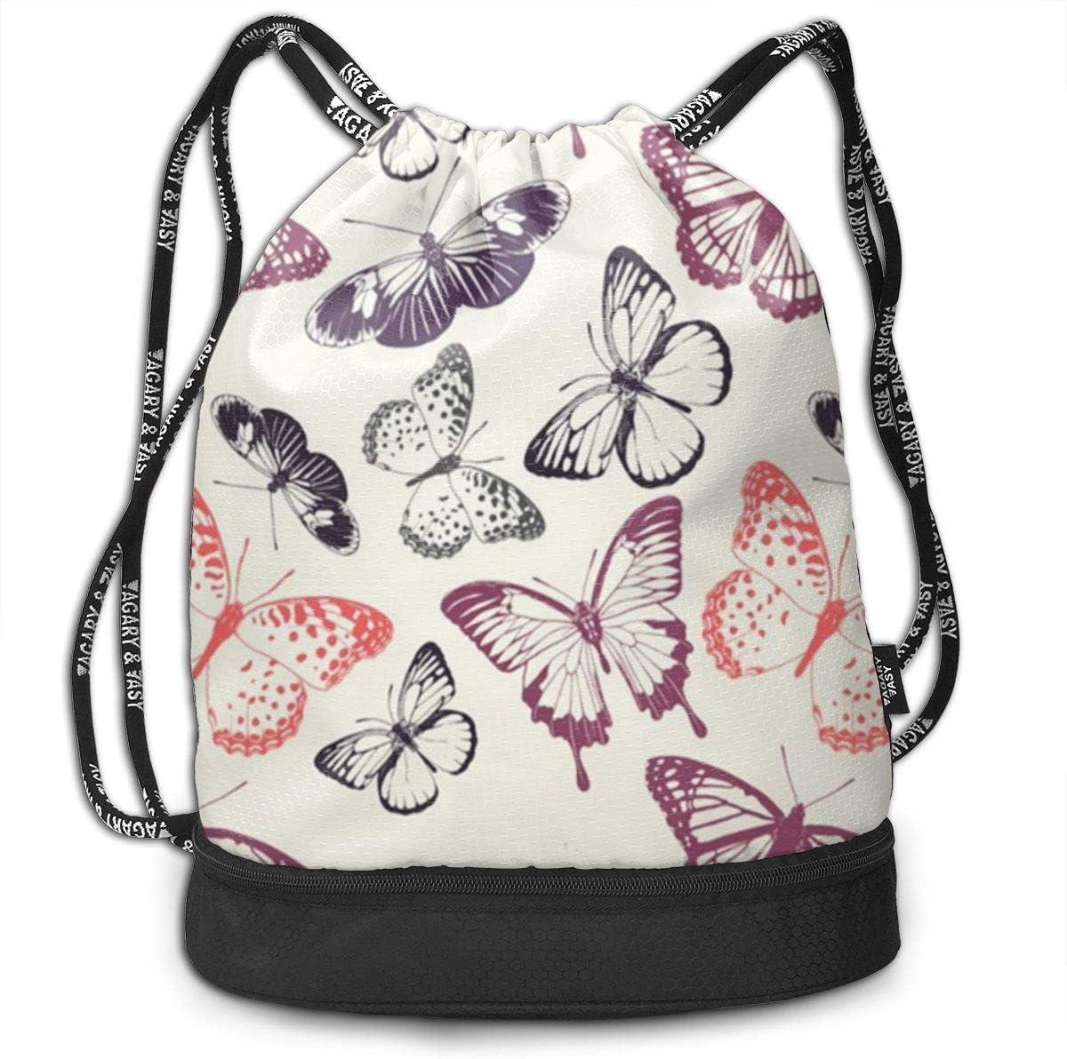 Butterflies Multifunctional Bundle Backpack Shoulder Bag For Men And Women
