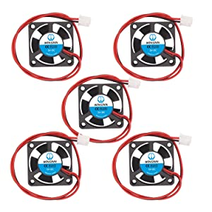 WINSINN 30mm Fan 5V Hydraulic Bearing Brushless 3010 30x10mm for Cooling CPU Arduino - High Speed (Pack of 5Pcs)