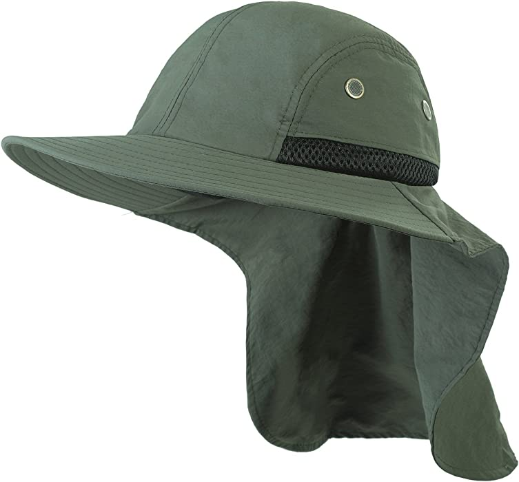 Headwear Extreme Condition Sun Hat - Neck Flap Cover Fishing Cap with  Breathable Mesh (Army f378880de6f