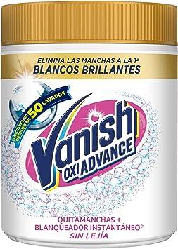 Vanish Vanish Oxi Advance - Quitamanchas Y Blanqueador Para Ropa Blanca, En Polvo, Sin Lejía 800 g: Amazon.es: Salud y cuidado personal