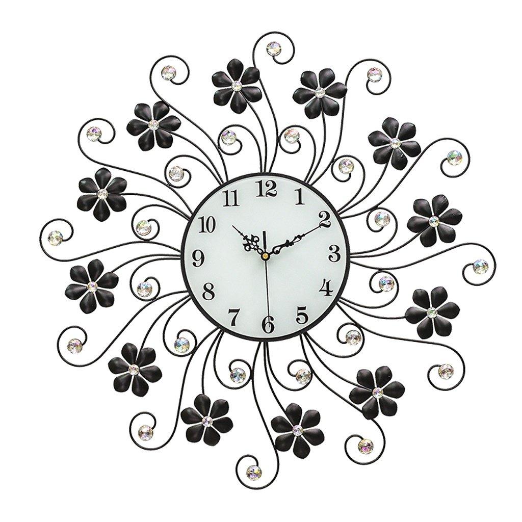 ALUPモダンなリビングルームの壁時計創造的なシンプルなベッドルーム静かな時計ヨーロッパスタイル B07F3QLPL7
