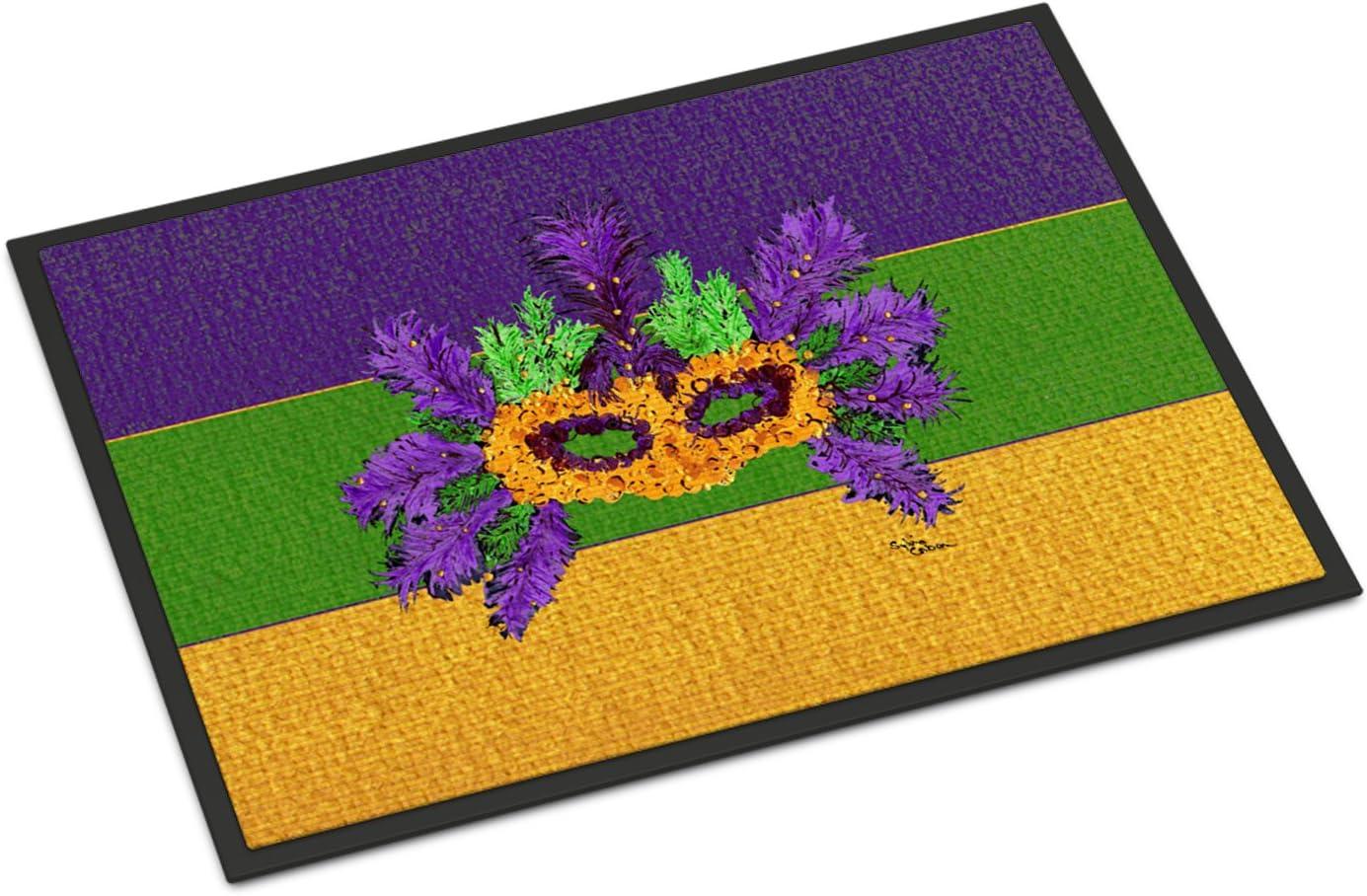 Caroline s Treasures 8389JMAT Mardi Gras Indoor or Outdoor Mat 24×36 Doormat, 24H X 36W, Multicolor