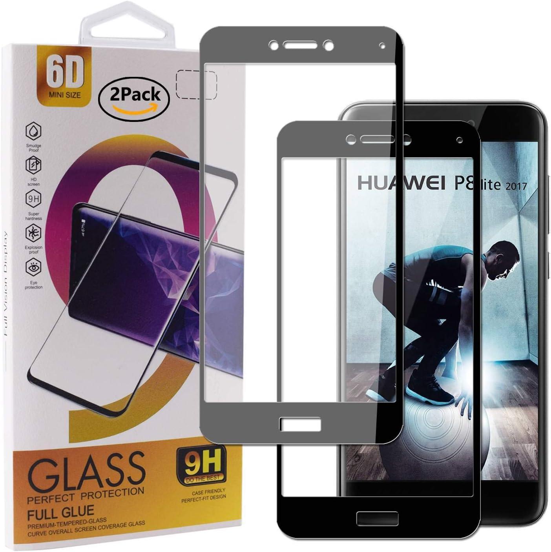Guran [2 Paquete Protector de Pantalla para Huawei P8 Lite 2017 Smartphone Cobertura Completa Protección 9H Dureza Alta Definicion Vidrio Templado Película: Amazon.es ...