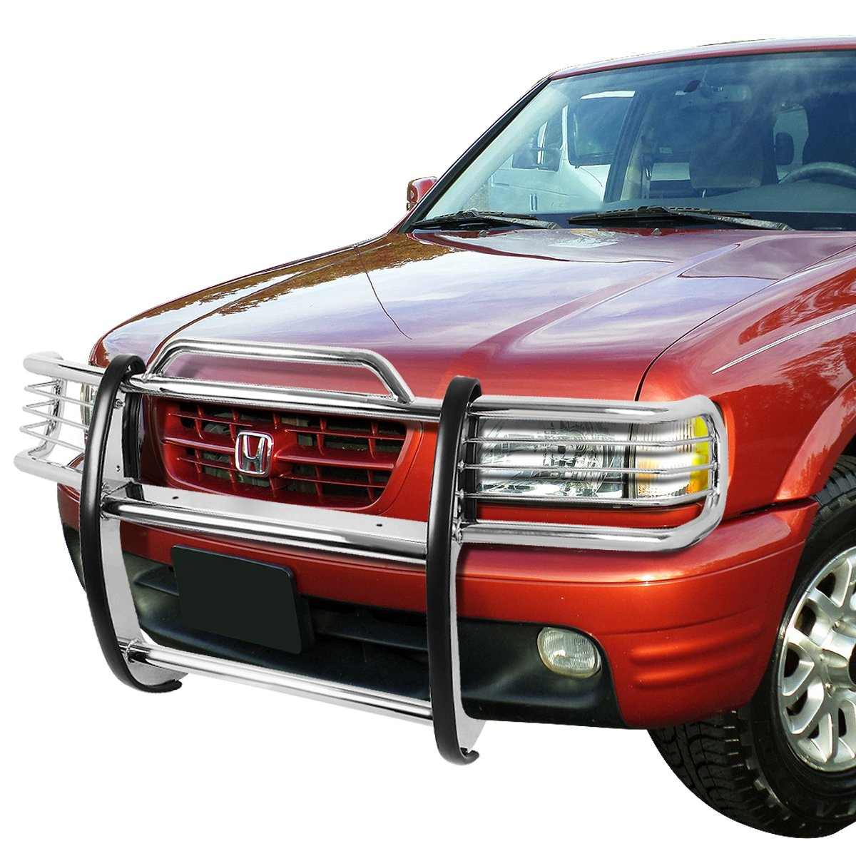 For Honda Passport//Isuzu Amigo//Redeo Sport Front Bumper Protector Brush Grille Guard Chrome