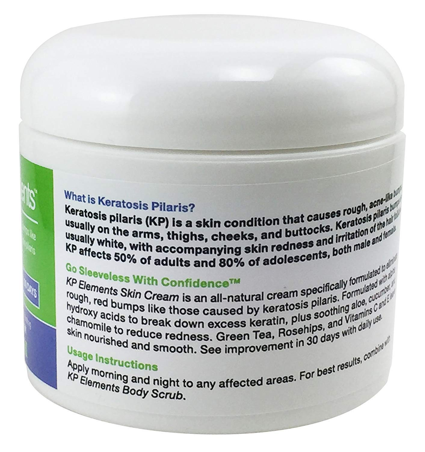 KP Elements Keratosis Pilaris Exfoliating Skin Cream Treatment, 4 fl oz. each, 2 Pack - All-Natural, Soothing, Healing Ingredients by KP Elements (Image #6)