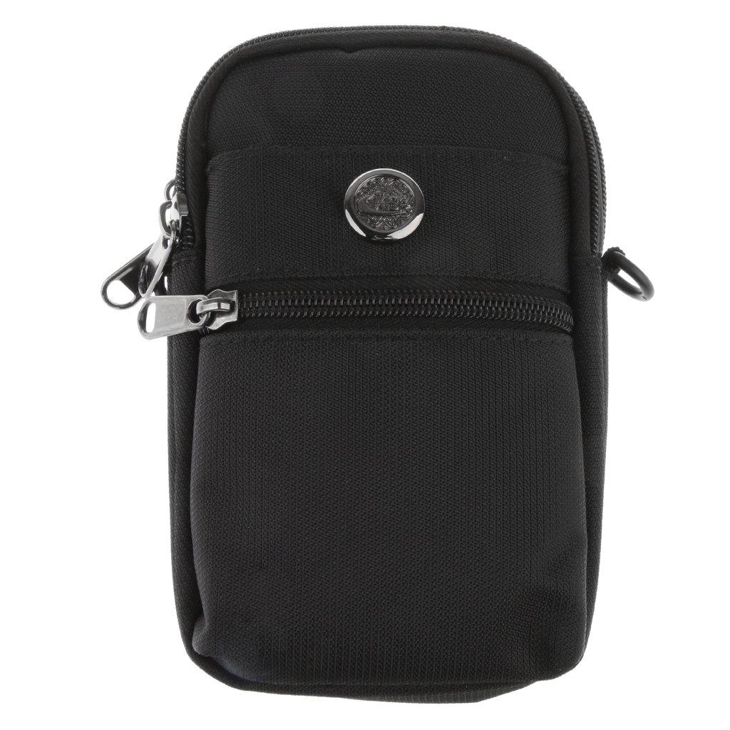 Sharplace Cinturón Deportivo Correa Cintura Bolso Resistente al Agua para Unisexo Elegante Compacto - Negro