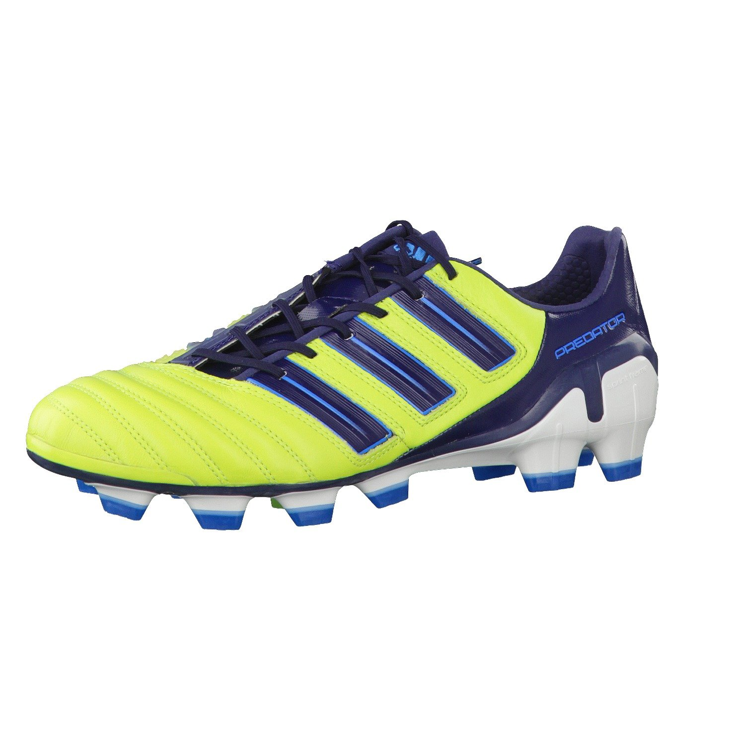 new products 2d97d cd9af Adidas ADIPOWER PREDATOR TRX FG Yellow Leather Men Football Soccer Shoes ...