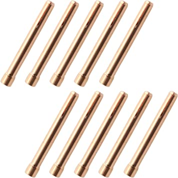 """5PCS 10N24 3//32/"""" 2.4mm Copper Collet for Welding Torch WP17 WP18 WP26 25"""