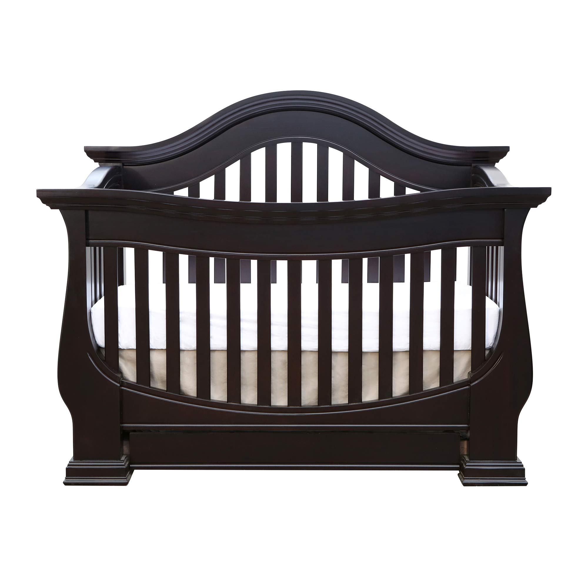 Full Size Conversion Kit Bed Rails for Baby Appleseed Beaumont, Chelmsford, Davenport, Kennedy, Millbury, Stratford Cribs (Espresso) by CC KITS (Image #4)