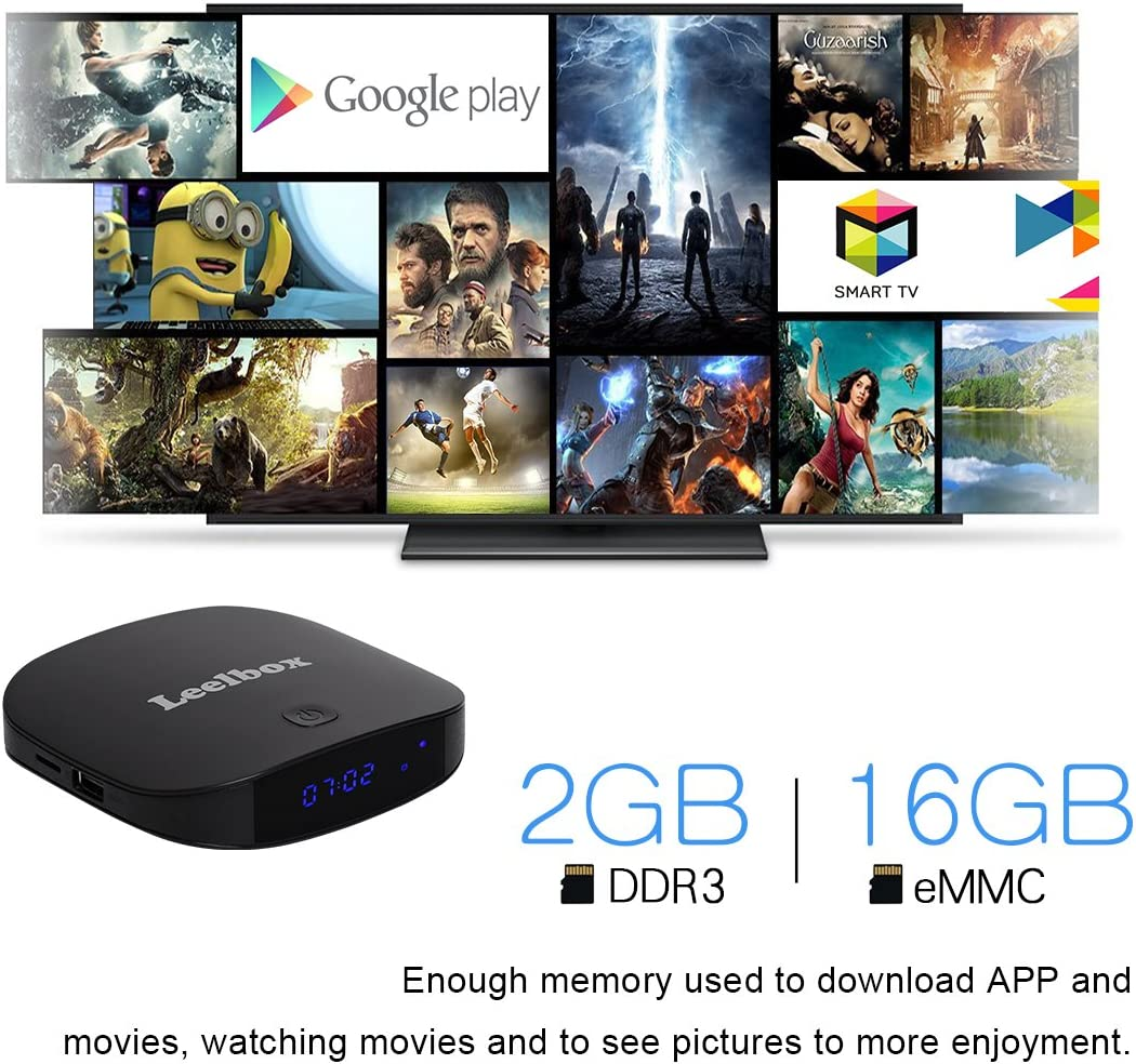 Leelbox Q2 Mini Android 7.1 TV Box Smart TV Box 2GB RAM+8GB ROM con BT 4,0. Soporta 4K(60HZ)/2.4G y 5G WIFI/3D/4K/HD/H.265: Amazon.es: Electrónica