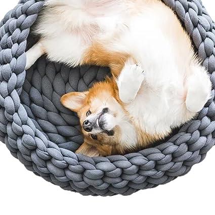Amazoncom Knitted Dog Bed Braid Dog Bed Chunky Knitting Dog