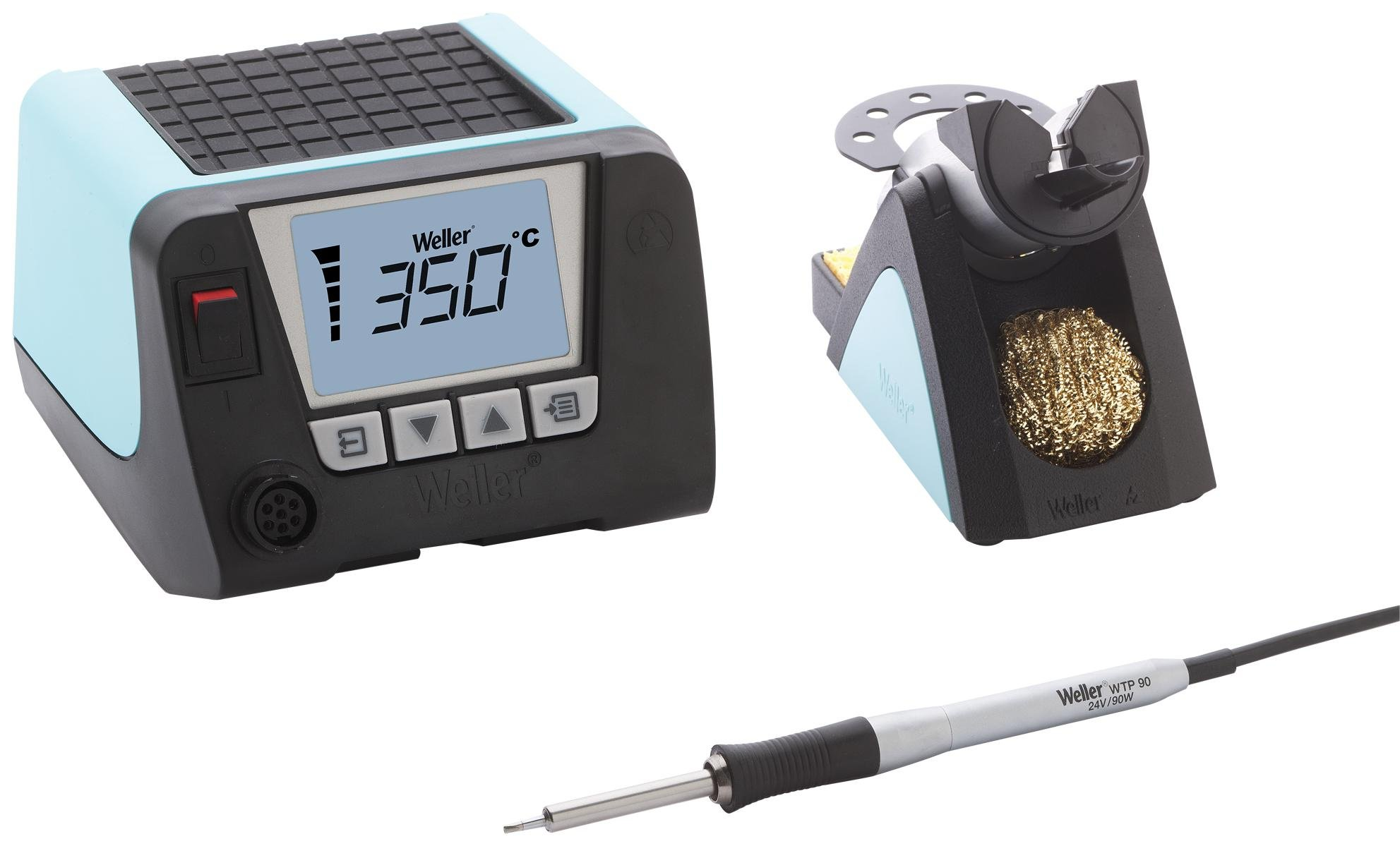 WT Series 1 Channel Stackable Power Unit with WTP90 Soldering Iron and Safety Rest