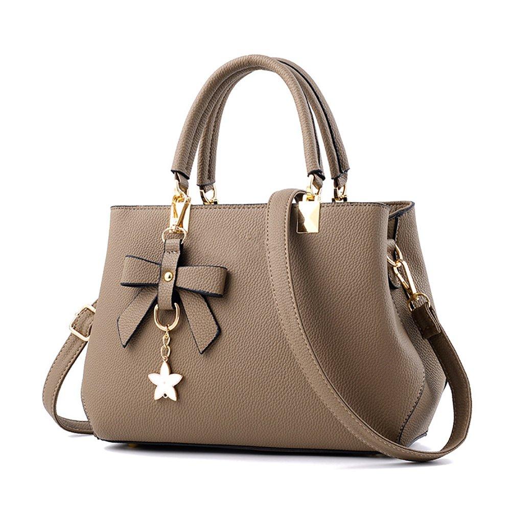 Geschenk Zum Muttertag Grau Frauen Stilvolle PU Designer Schultertasche Taschen Umh/ängetasche URAQT Damen Handtaschen Schulterbeutel