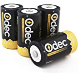Odec Rechargeable D Batteries 10000mAh Ni-MH High Capacity / 4 Pack D Size Cell Batteries