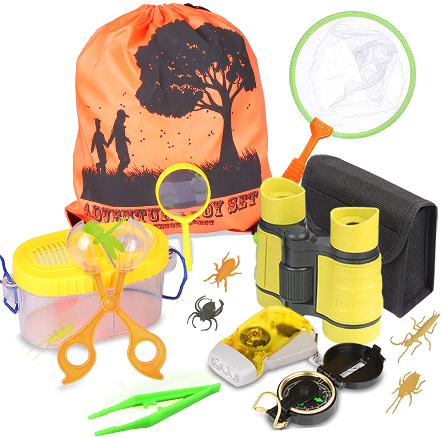 Outdoor Explorer Kit 14 Pack Kids Bug Catcher Toys Gift For 3 4 5 6-12 Years Old