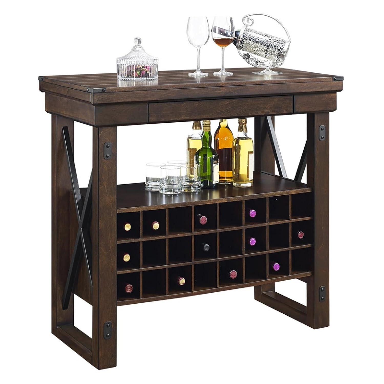 Cool Ameriwood Home Wildwood Wood Veneer Bar Cabinet Mahogany Inzonedesignstudio Interior Chair Design Inzonedesignstudiocom