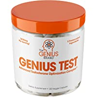 The Genius Brand Genius Test - First-Rate Multipurpose Testosterone Booster Capsules, 120 count