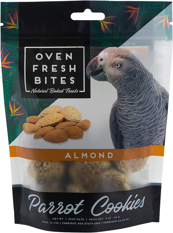Oven Fresh Bites, Baked Parrot Cookies, Bird Treat, All-Natural Ingredients, 4 oz Bag