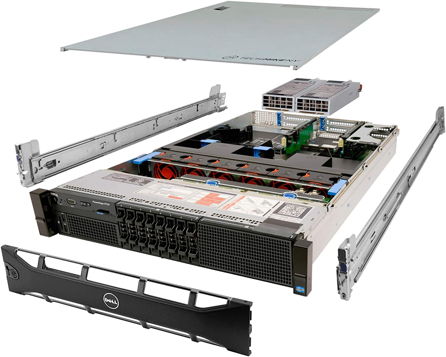 Dell PowerEdge R720 Server 2X E5-2643 3.30Ghz 8-Core 72GB 8X 300GB H710 Rails (Renewed)