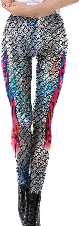 DELEY Donna Funky Digitale Stretch Stampati Pantaloni Stretti Leggings