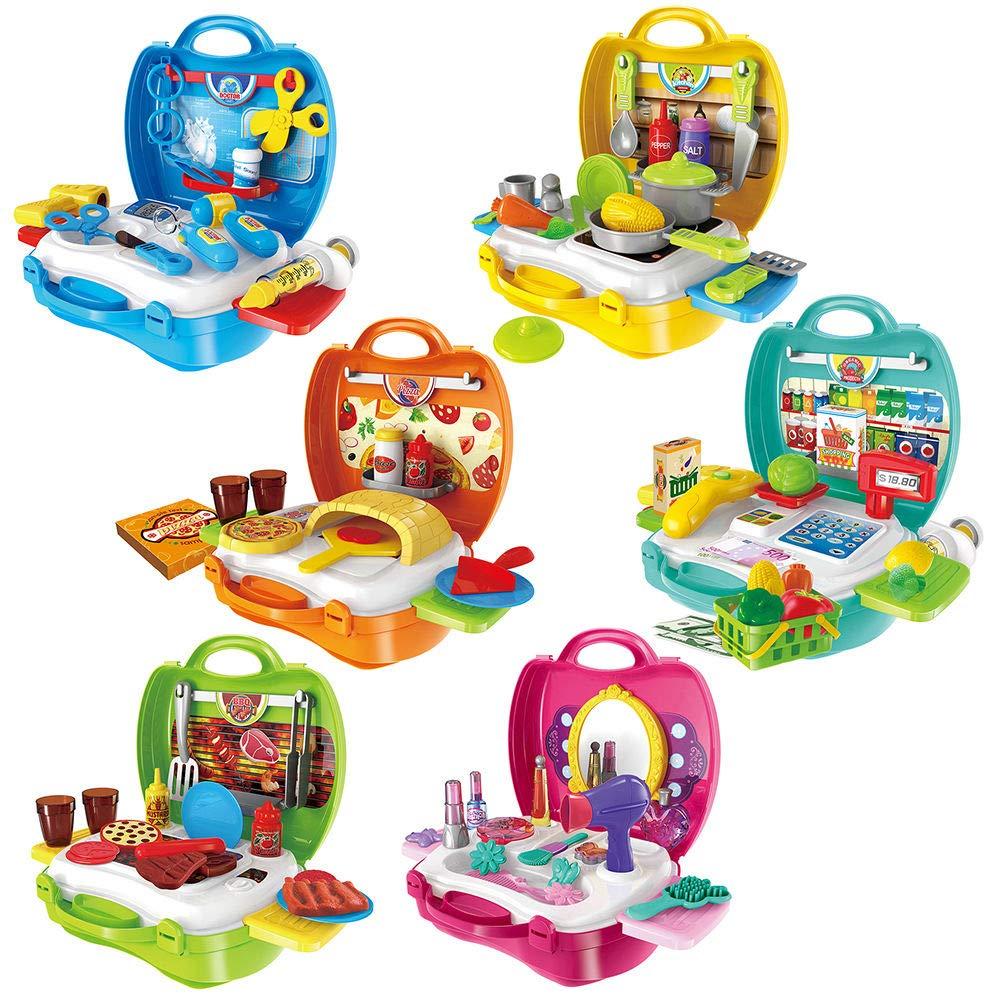 MAJGLGE Kids Ruolo Giochi Fai da Te per Bambini da Cucina Medical Set Giocattolo di Trucco Gift/ /Cucina Barbecue