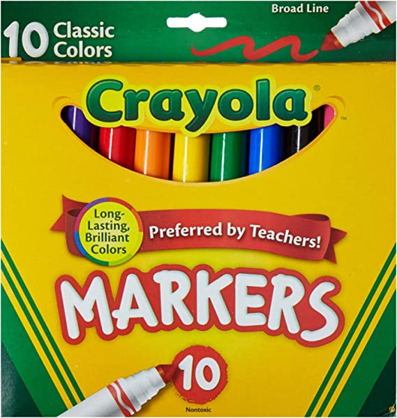 Classic Colors Crayola Broad Line Markers 10 Ct. 1 Case of 12